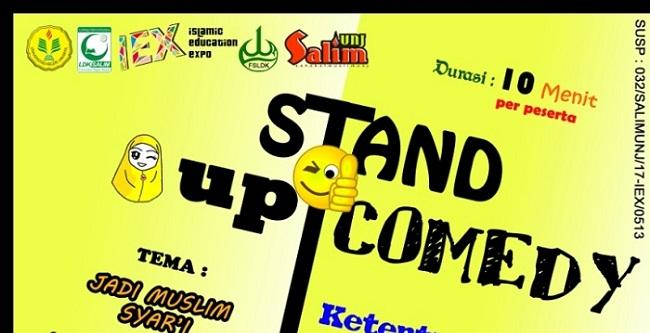 membawakan materi yang cerdas dalam STAND UP COMEDY. Stand Up Comedy